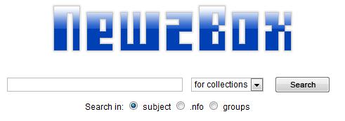 Newzbox NZB bestanden zoeken en downloaden