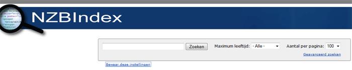 NZBindex NZB bestanden zoeken en downloaden uit de nieuwsgroepen