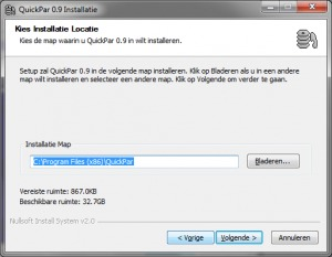 quickPar-install-folder