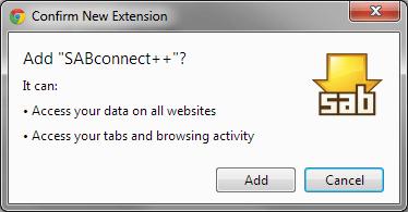 Chrome plugin SABconnect++