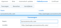 Synology Package Source-Add