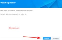 Radarr downloaden voor Synology