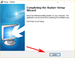 radarr installatie klaar