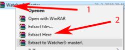 watcher-uitpakken-windows watcher installeren windows