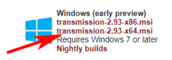 download torrent transsmision windows