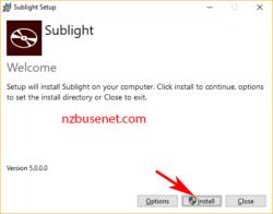 Sublight installeren Windows