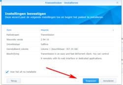 installatie-torrent-transmission-dsm6