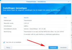 installatie-torrent-transmission-dsm6