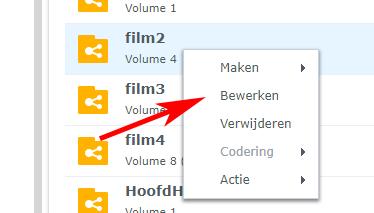volume bewerken synology