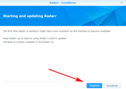 radarr-updaten-synology