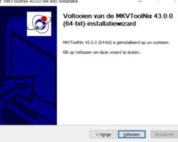 MKVToolNix installation ready