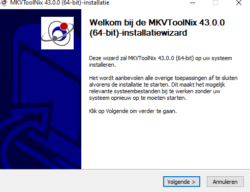 Installing MKVToolNix