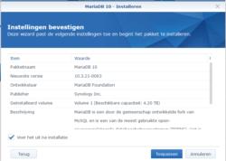 mariadb database synology