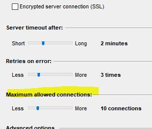 adjust number of usenet connections grabi