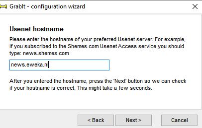 Grabit news server Usenet hostname