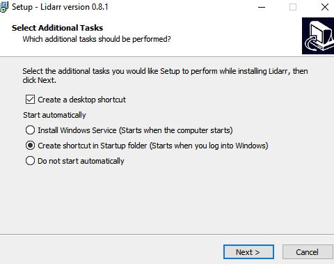 Windows Lidarr installeren