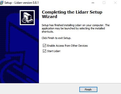 Windows Lidarr installatie